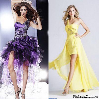 Выпускные платья спереди и сзади фото